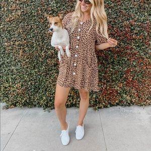 Casual Leopard Dress